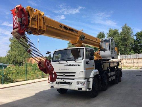 Купить АРЕНДА АВТОКРАНА КАМАЗ КС-65740-7 ИВАНОВЕЦ 40 тонн | 40 метров